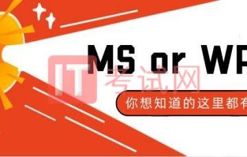 计算机二级考MS office还是WPS office?